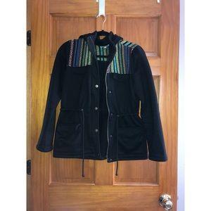 drug rug style fleece fall jacket